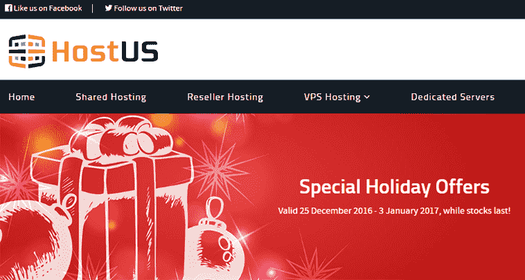 hostus special holiday offers