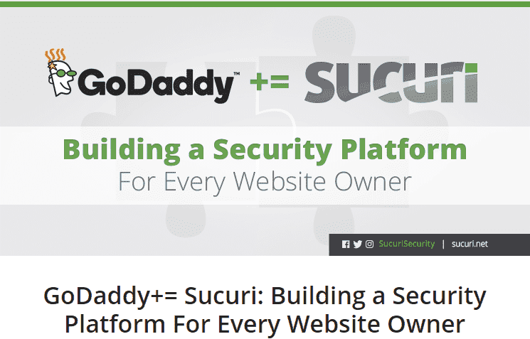 GoDaddy acquires Sucuri enhancing the security of customer websites for April 2017