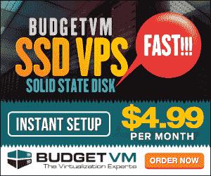 BudgetVM VPS Coupon