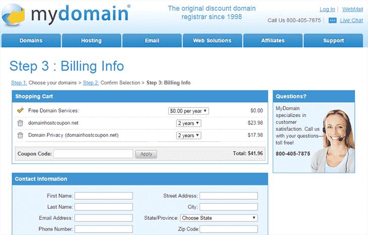 Buy Domain at MYDOmain - domainhostcoupon