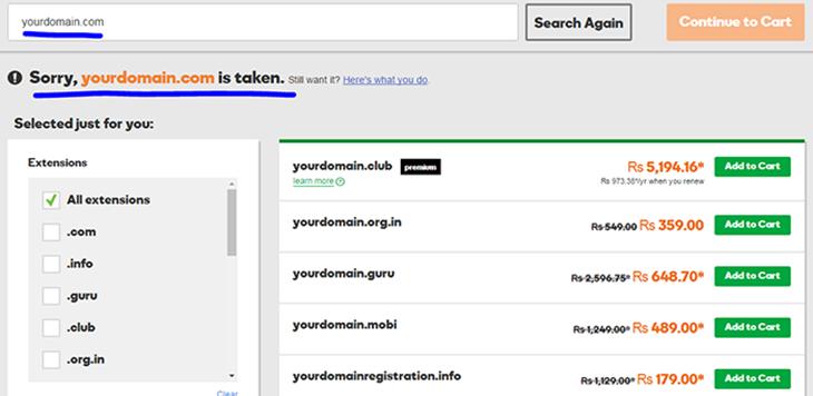 Check domain on Godaddy Domainhostcoupon