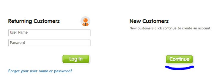 Create new account Register com