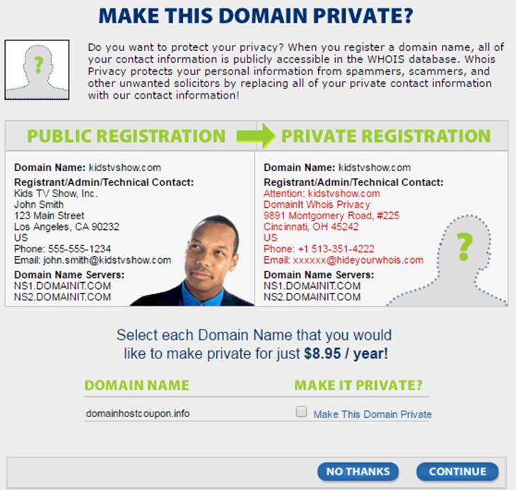Domain private DomainIT