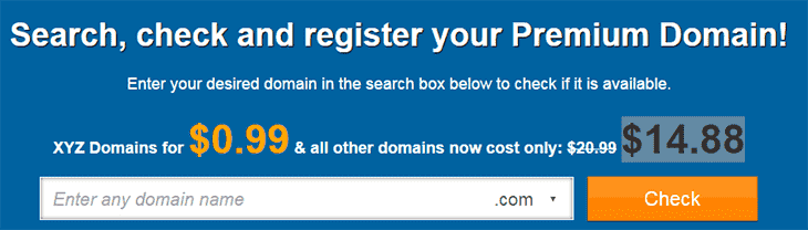 Domain search box