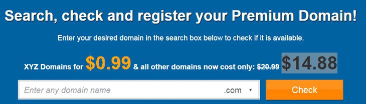 Domain search box