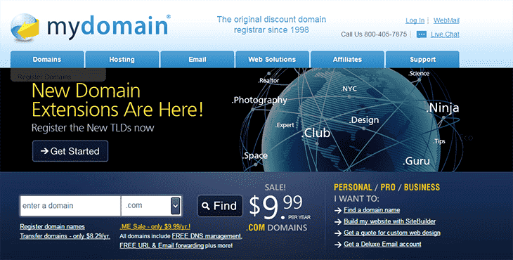 Mydomain Offical Website domainhostcoupon
