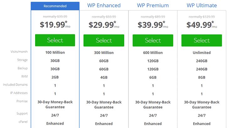 WP Hosting package