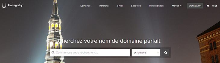 uniregistry offical website