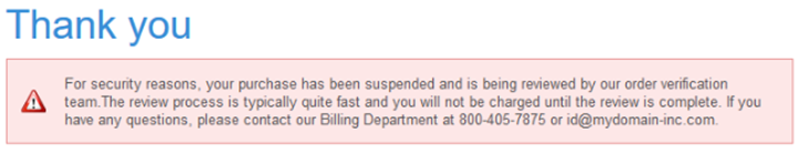 warning of MyDomain domainhostcoupon