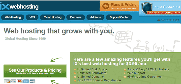 IXWebHosting offical website