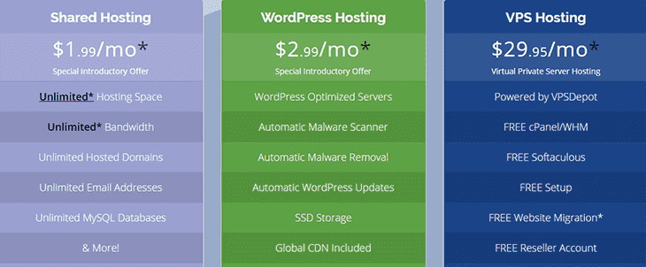 WHP hosting packages