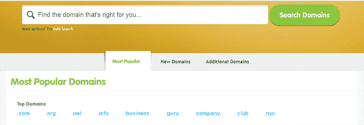 Buy domain name at Register