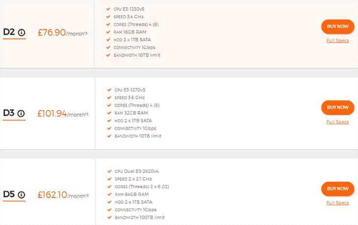 Dedicated Server Plans at UK2