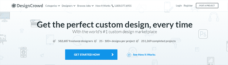 DesignCrowd offical website