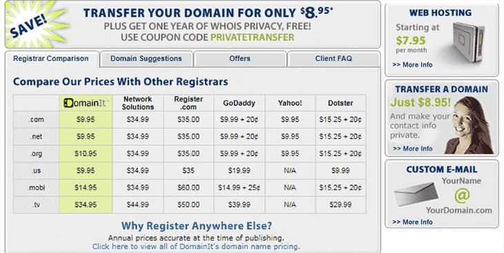 DomainIt website