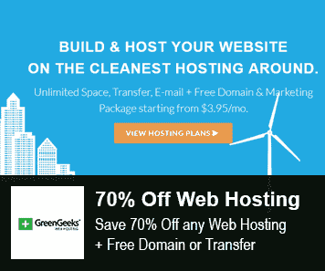 Greengeeks Coupon 70% Off Web Hosting