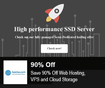 Hostiso coupon 90% Off Web Hosting and Server
