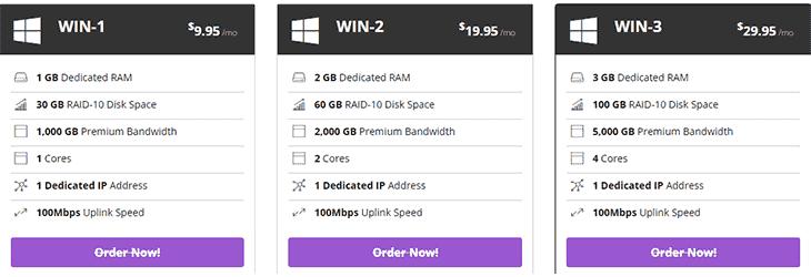 Windows VPS Hosting Plans