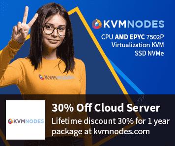 KVM Nodes coupon 30% Off Cloud VPS Server