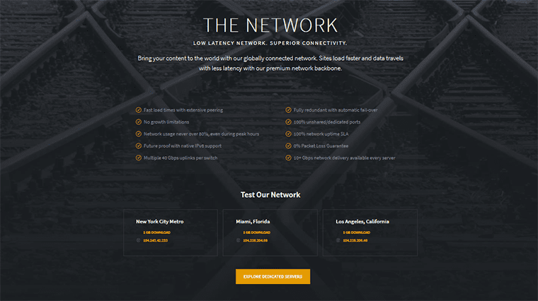 Reliablesite Test Our Network